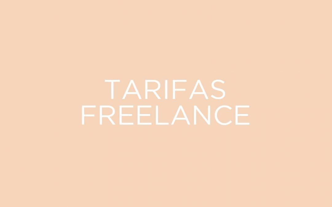 Mis tarifas estandar como diseñador gráfico freelance